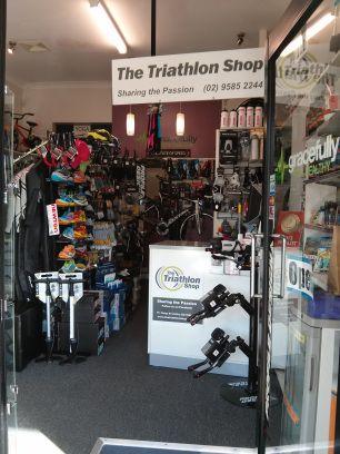 The triathlon shop provides specific triathlon swim, bike