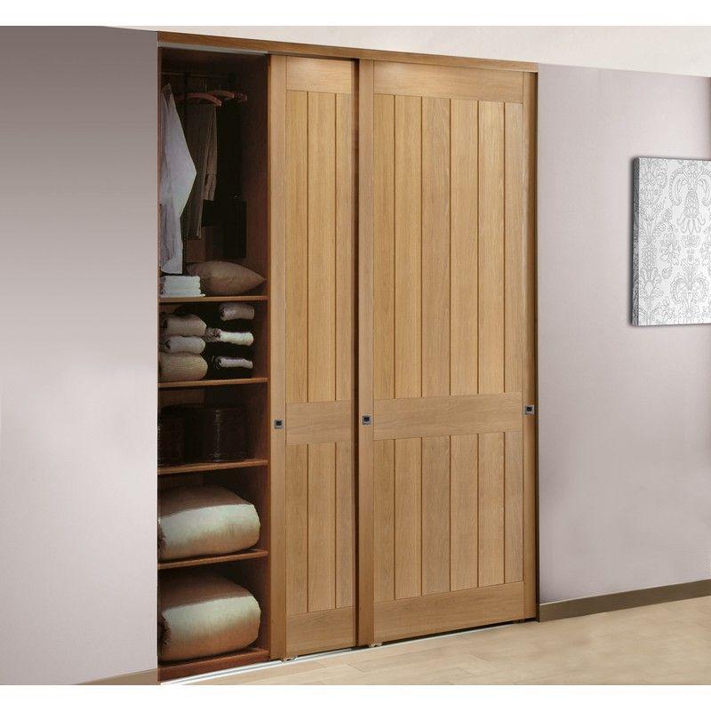 placard-coulissant-amalfi-2-vanteaux-chene-vernis-naturel-larg180m-L - portes de placard coulissante