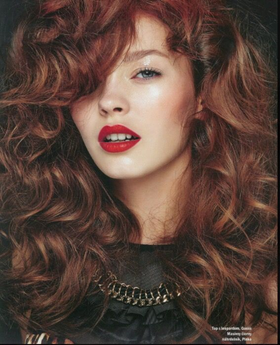 Redheads with red lips