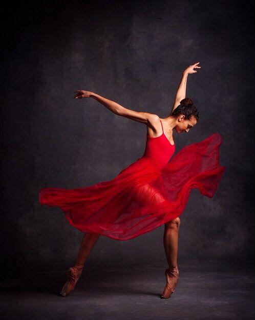 a6348cabc Ballet Dancer wearing Red Dress | Girl / Woman Red Art | Ballet ...