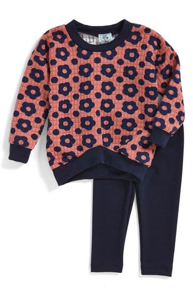 Pippa & Julie Floral Print Sweatshirt & Leggings (Toddler Girls, Little Girls & Big Girls)
