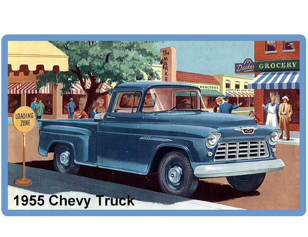 Details About 1955 Chevy Apache Task Force Truck Refrigerator Tool Box Magnet With Images Vintage Chevy Trucks Chevy Pickups Chevy Trucks
