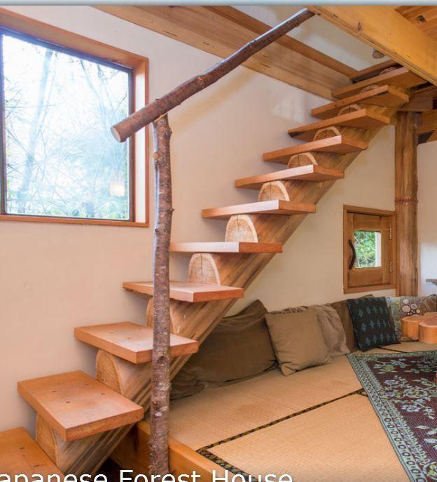 Log Stairs Design