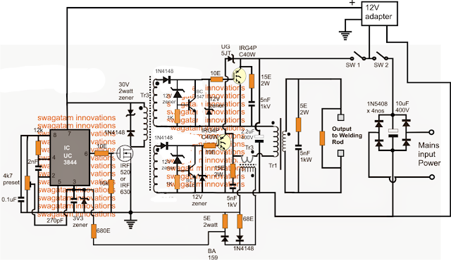 Powerful Welding Inverter Circuit Inverter Welder Inverter Welding Machine Welding Machine