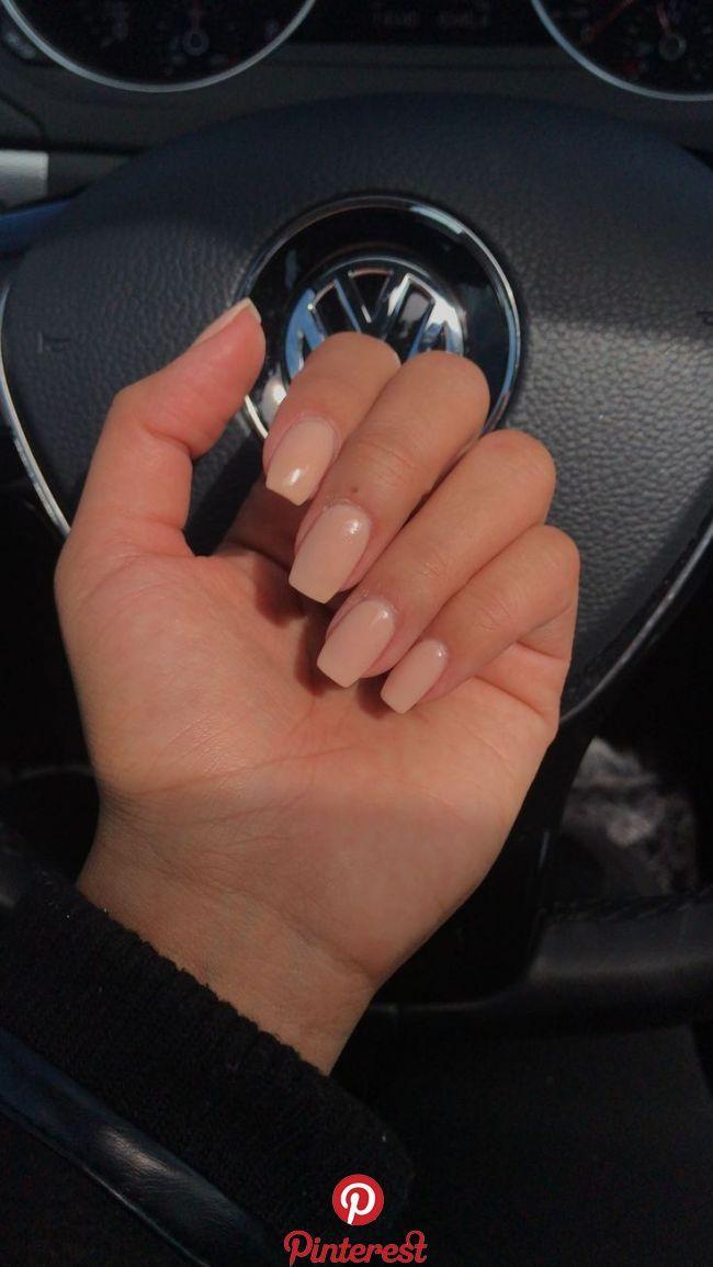 coffin shaped nude nexgen manicure