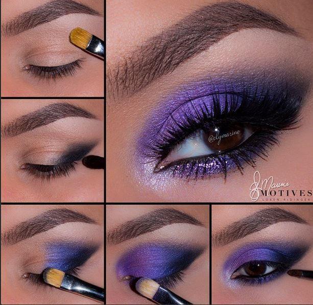 check this electric blue and purple from #motivescosmetics #makeuptutorial  by elymarino using Motives✨✨  www.ShopBuddyAnna.com