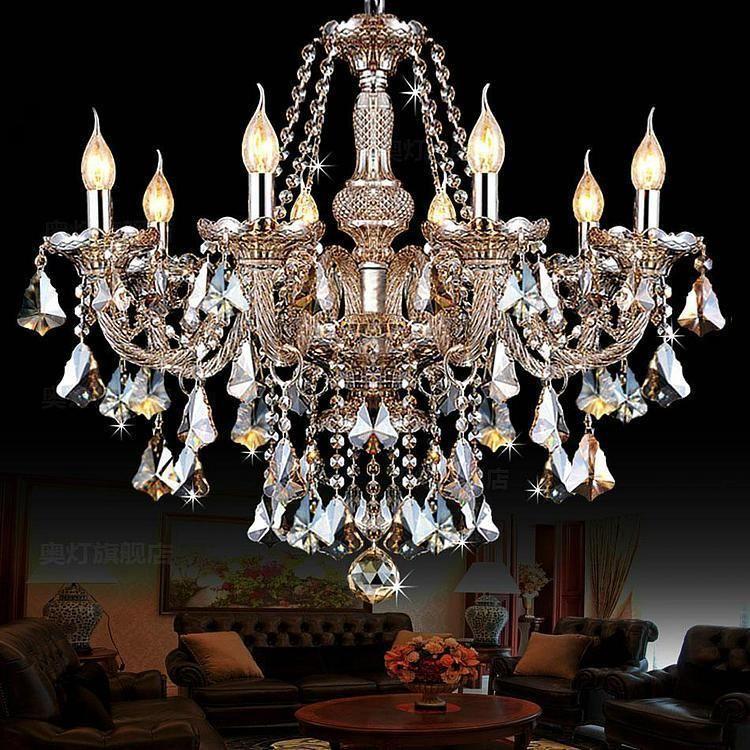 8 lights luxury champagne color crystal chandeliers e1214 lamp 8 lights luxury champagne color crystal chandeliers e1214 lamp holders ac 110v 220v aloadofball Images