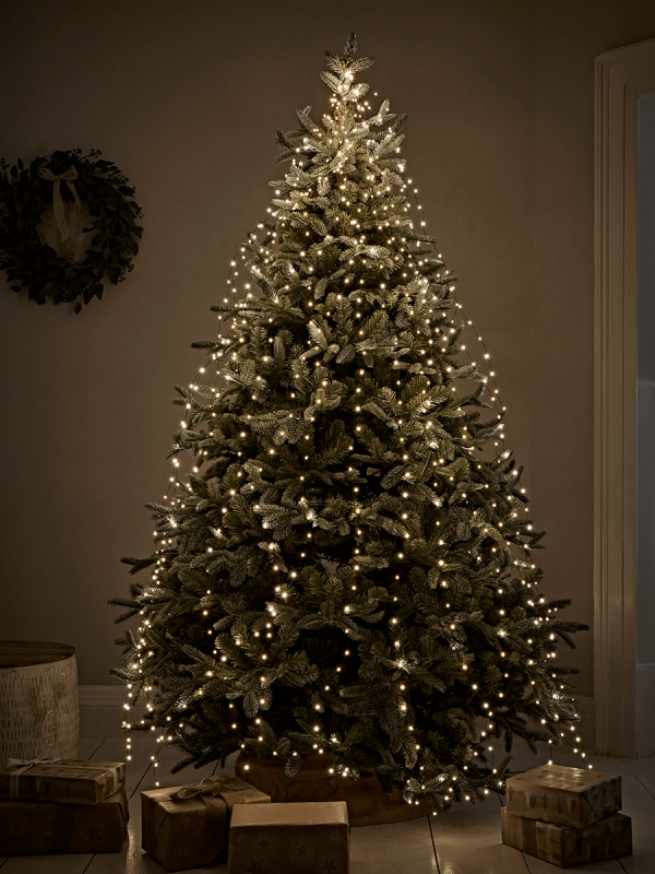 New Cascading Wire Tree Lights Indoor Outdoor Pre Lit Christmas Trees Decorations