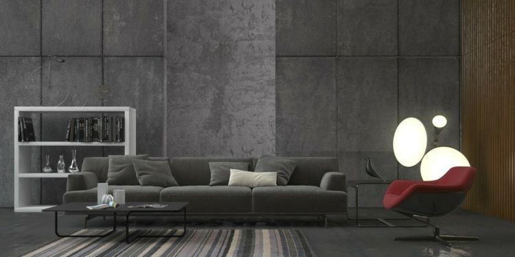 Wohnzimmer einrichten Ideen in Weiß, Schwarz und Grau Living - wohnzimmer ideen grau