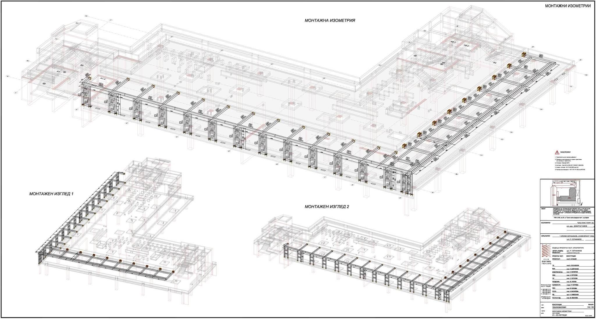 Steel Pergola Polygraphia Office Center Sofia 3d Bim Modeling