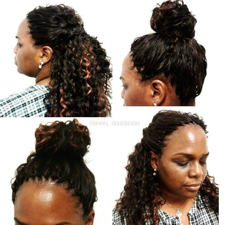 Peachy High Bun Ponytail Side Part Middle Part Half Up Half Down Short Hairstyles For Black Women Fulllsitofus