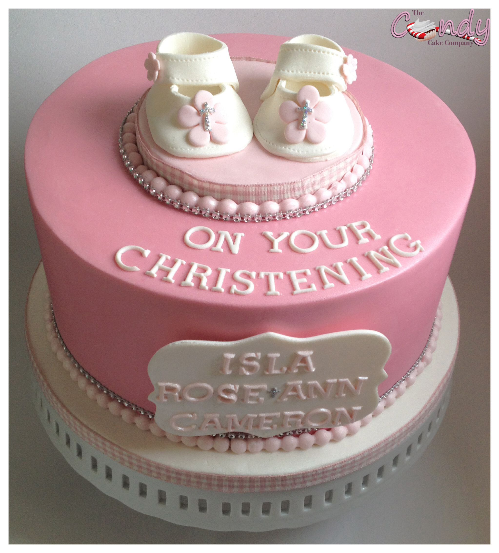 Baby girls Christening cake The Candy Cake Company Dartford Kent