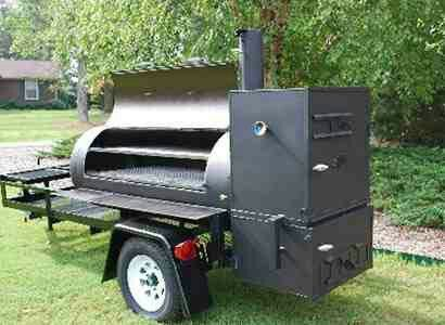 Grill & smoker on wheels | Grilling Myster | Homemade bbq