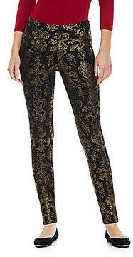 4e6168653b3e7 HUE Flocked Print Jeans Leggings on shopstyle.com | My Style ...
