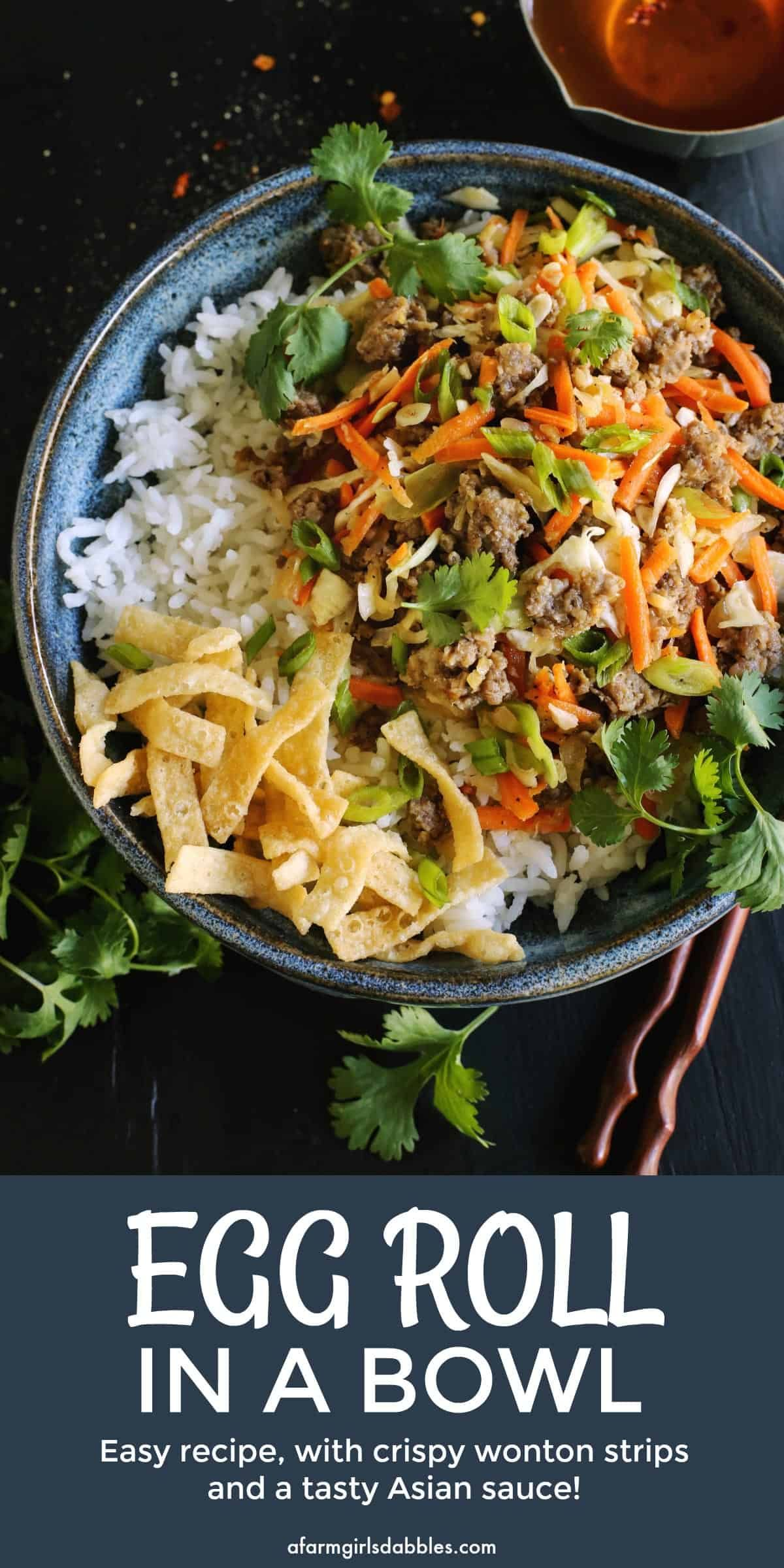 Egg Roll in a Bowl • easy recipe #eggrollinabowl