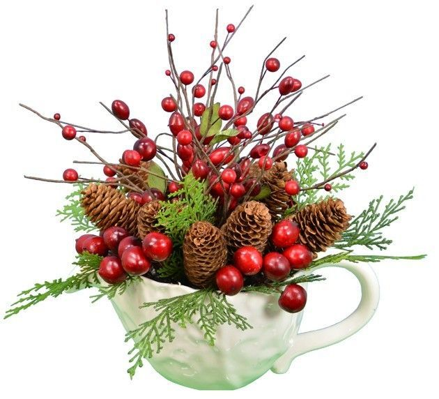 Features: -Color: Red. -Base color: White. -Made in the USA. Product Type: -Plant. Plant Type: -Pine Cone. Orientation: -Desktop. Base Included: -Yes. Country of Manufacture: -United States.
