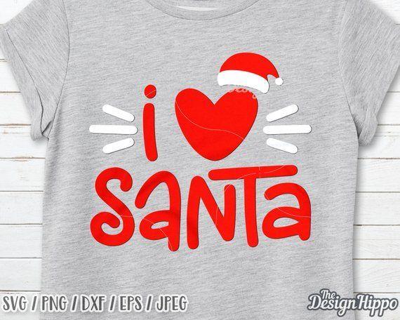 Download I love santa svg, Kids christmas svg, Santa hat svg ...