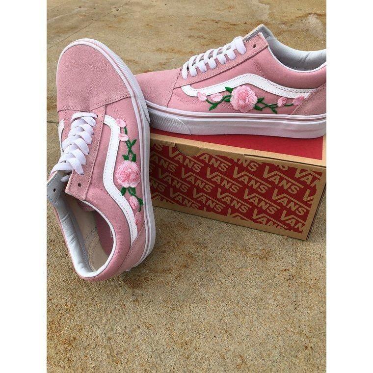 Vans 'n Roses Limited Edition | Pink vans, Custom vans shoes