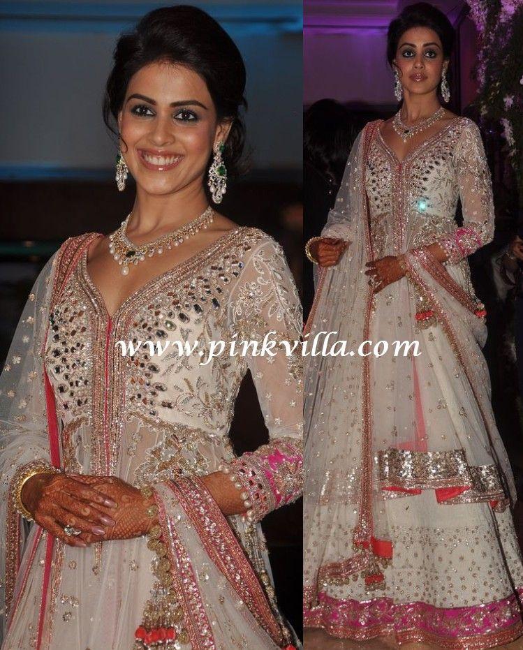 Genelia D\'Souza in Manish Malhotra | Pinterest | Manish, Manish ...