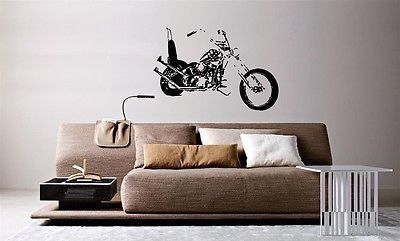 Wall Mural Vinyl Decal Decor Sticker Motorcycle Bike Chopper AL817