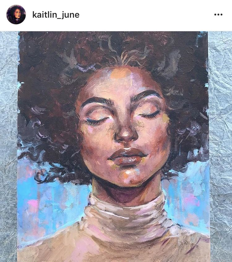 Natural Hair Painting Oil Painting Afro Art Drawing Afro Painting Art Afro Hair Drawing