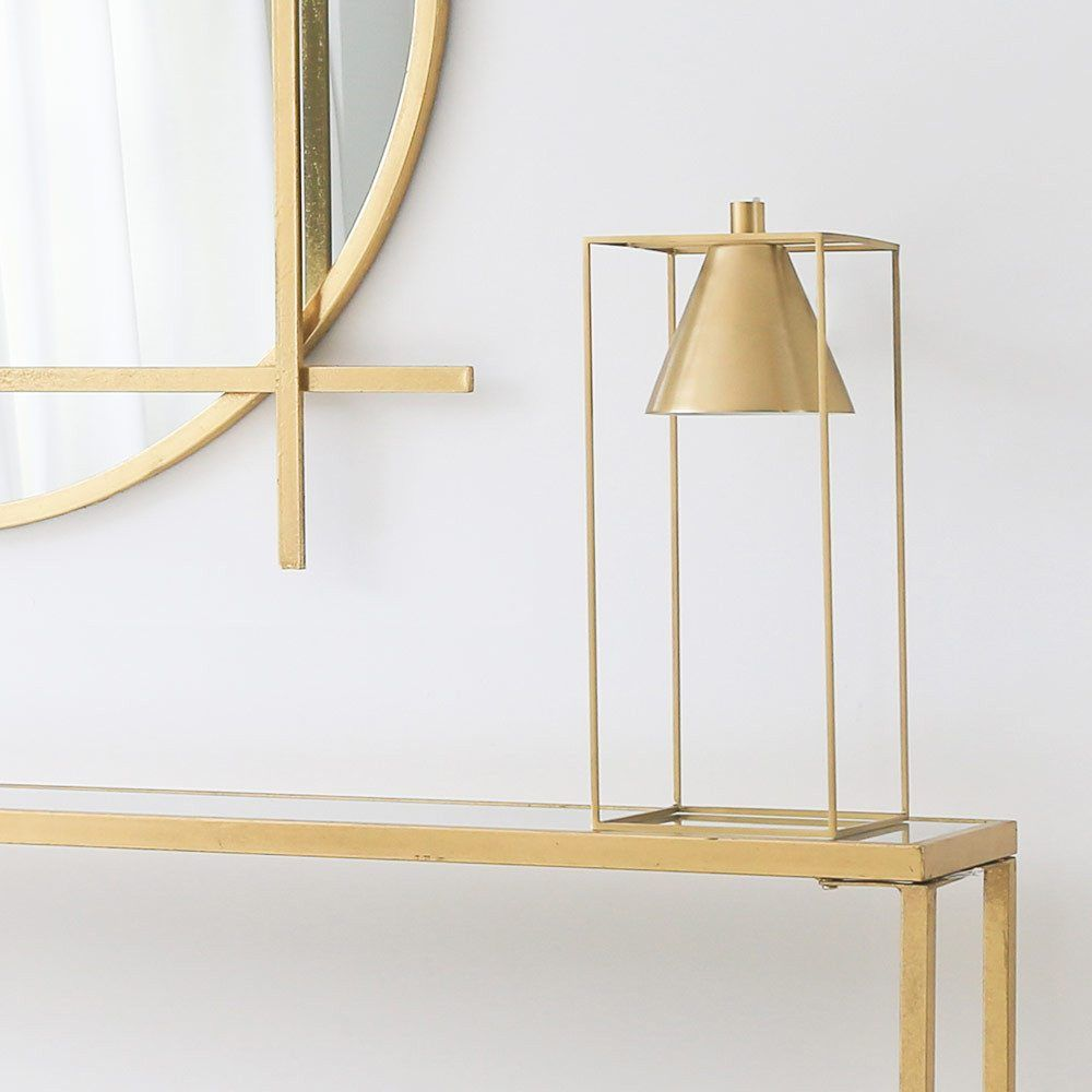 Gold Cuboid Table Lamp The French Bedroom Company