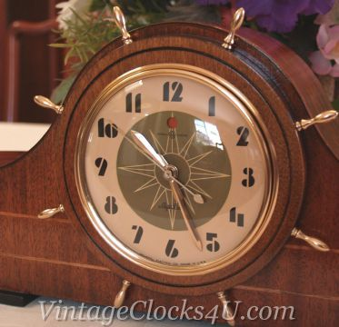Restored General Electric Ship's Bell Clock Model 6B06 - The Gloucester