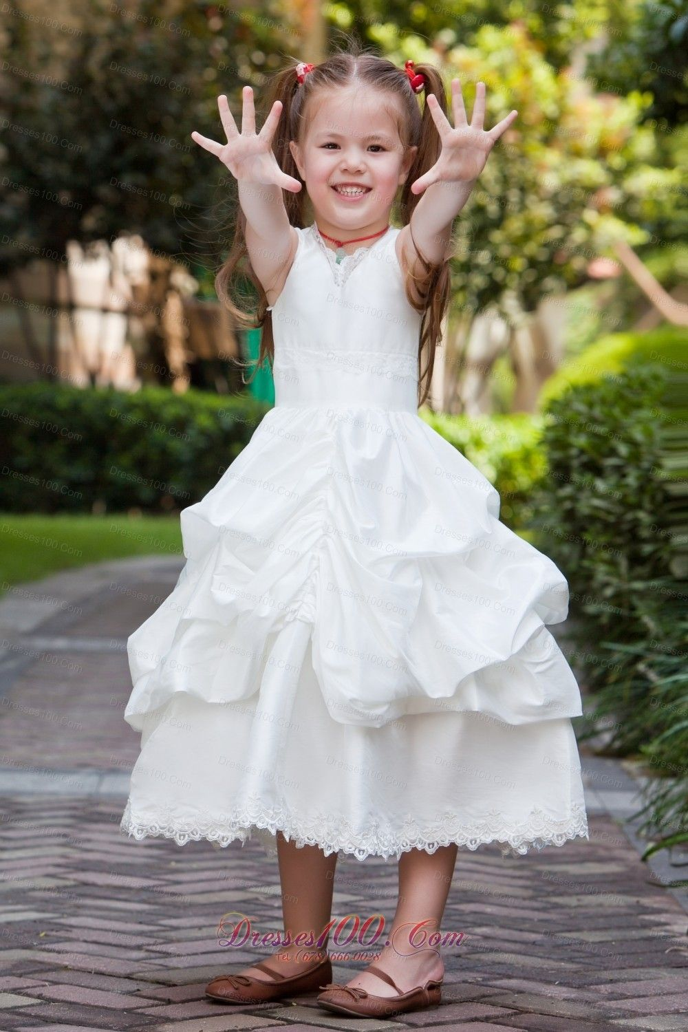 Debutante and cotillion flower girl dress in fremantle dama dresses