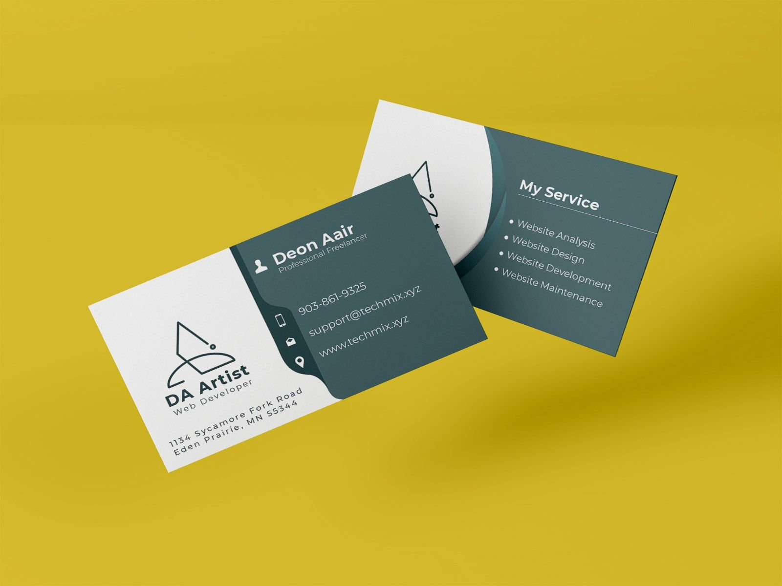 Freelancer Business Card Design Freelance Business Card Business Card Design Musician Business Card