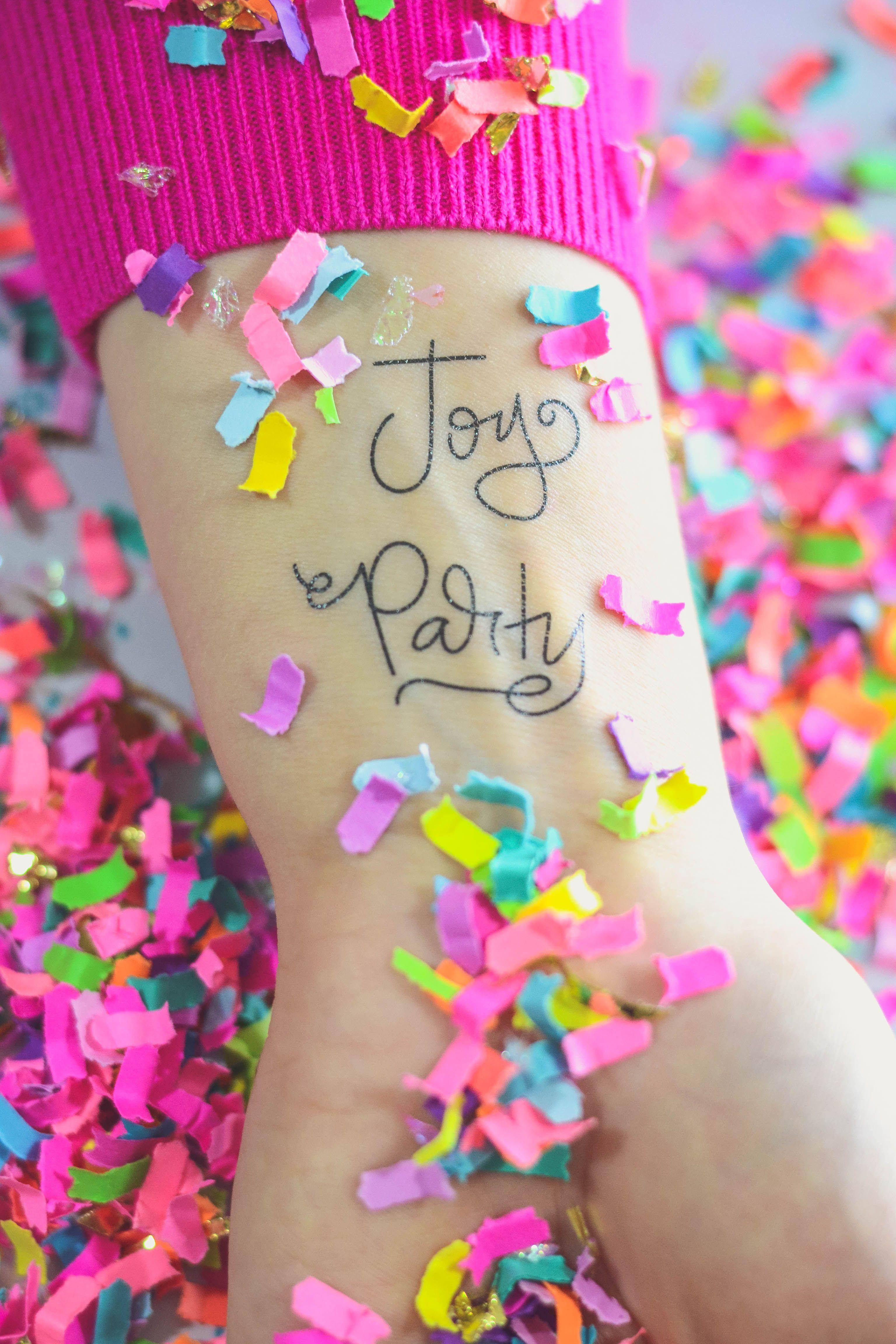 The Confetti Bar x letterhappy design Temporary Tattoos