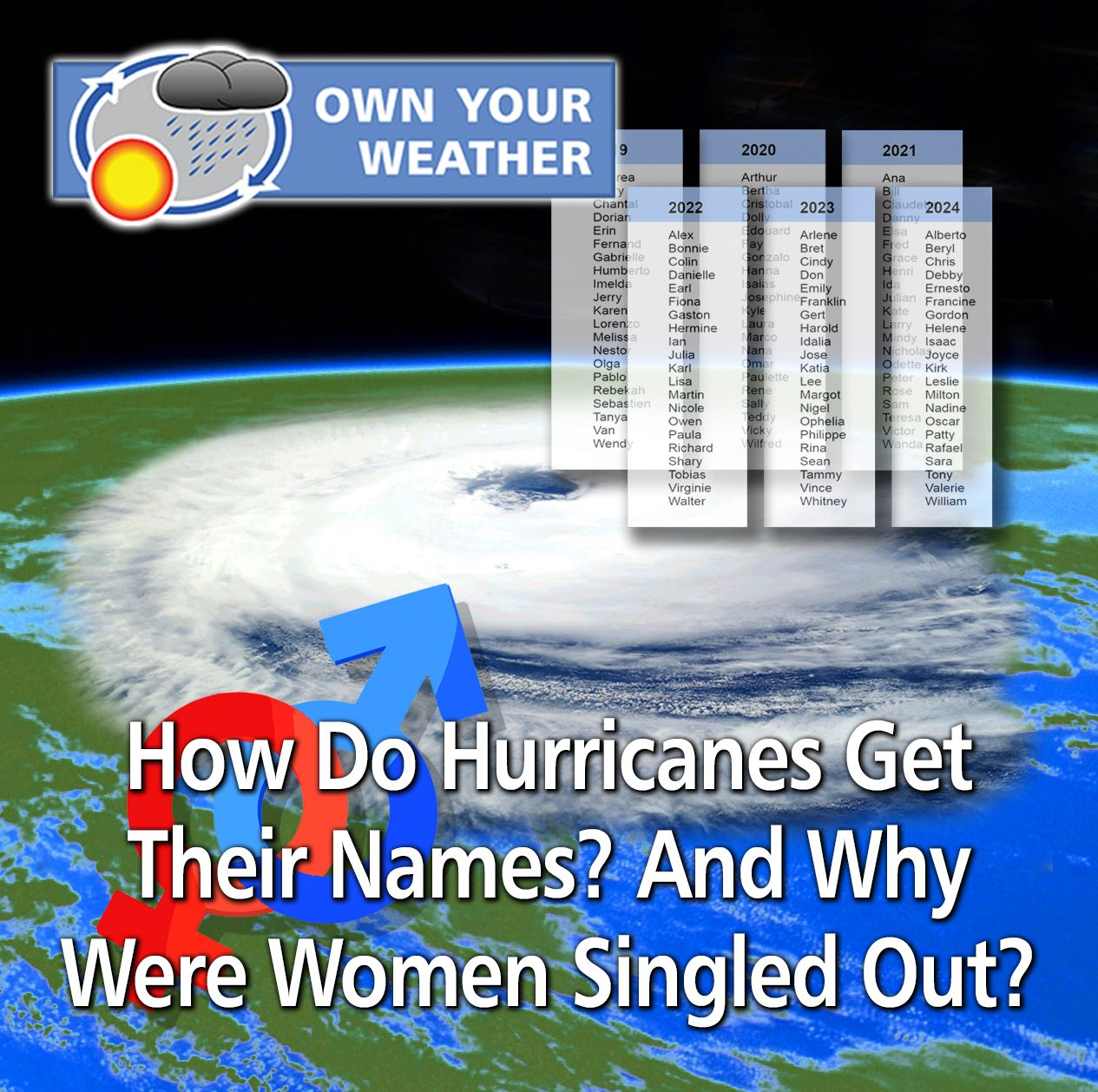 How Do Hurricanes Get Their Names And Why Were Women Singled Out Hurricane Female Names Names