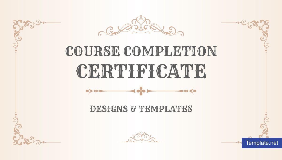 completion certificate course template templates word psd training regarding throughout certificates ga sample professional printable fugozinsurance plan