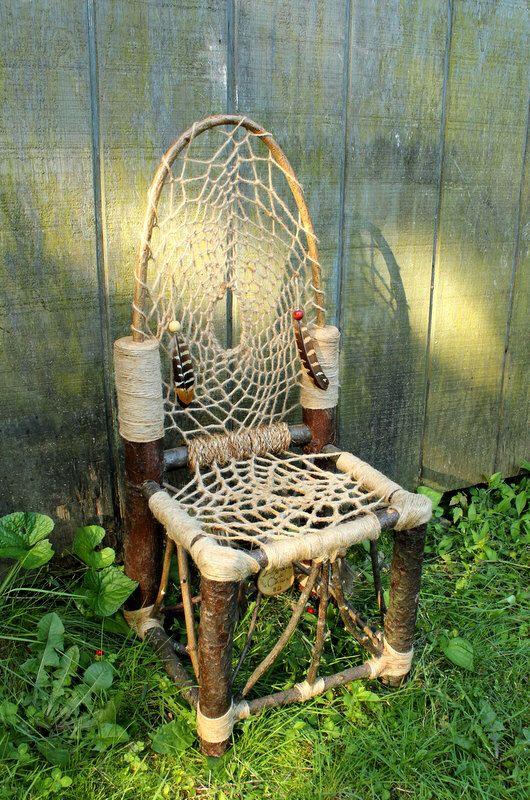 Dream Catcher Chair No40 Mini Recycled Tree Limb Furniture For Impressive Dream Catchers Furniture