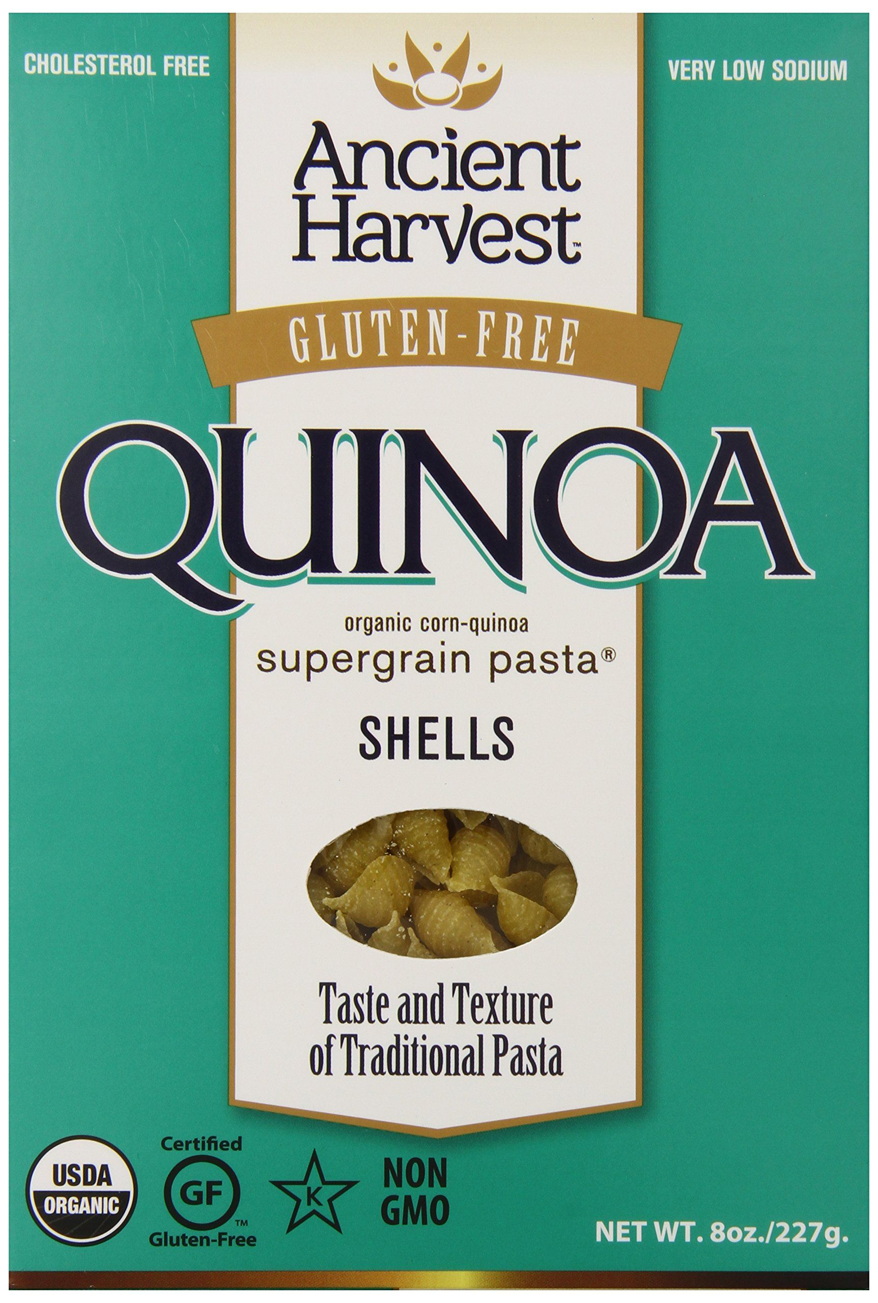 Amazon.com : Ancient Harvest Gluten Free Pasta Shells, 8 ...