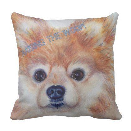 Cute Golden Pomeranian Throw Pillow Home Gifts Ideas Decor