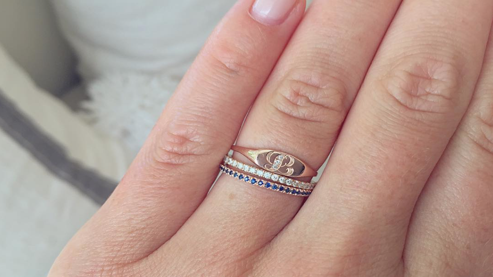 Custom stack for a new mom | Rings | Pinterest | Jewel and Ring