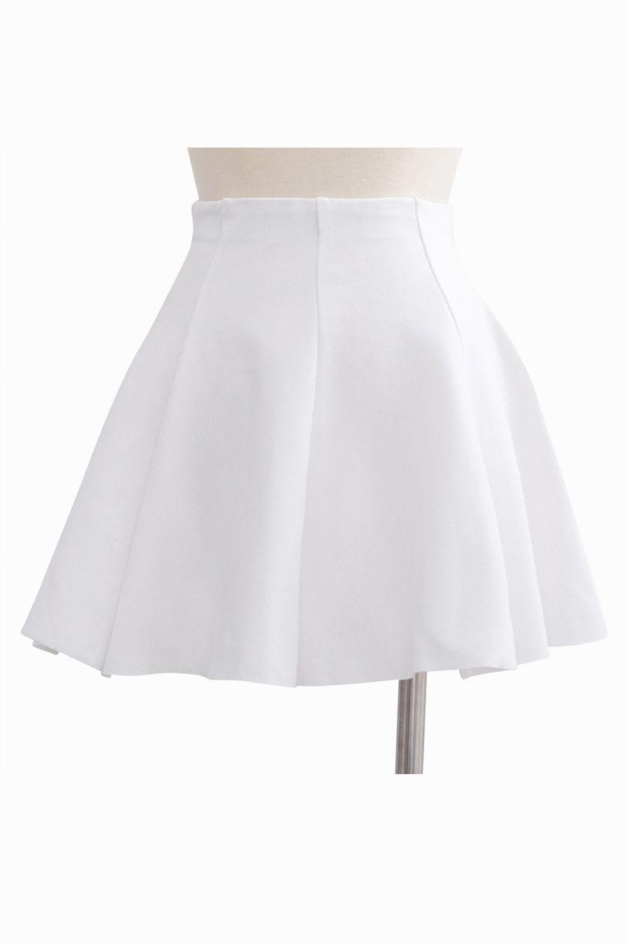 Nice Short Skirt In White | Short white skirt, Short skirts and ...