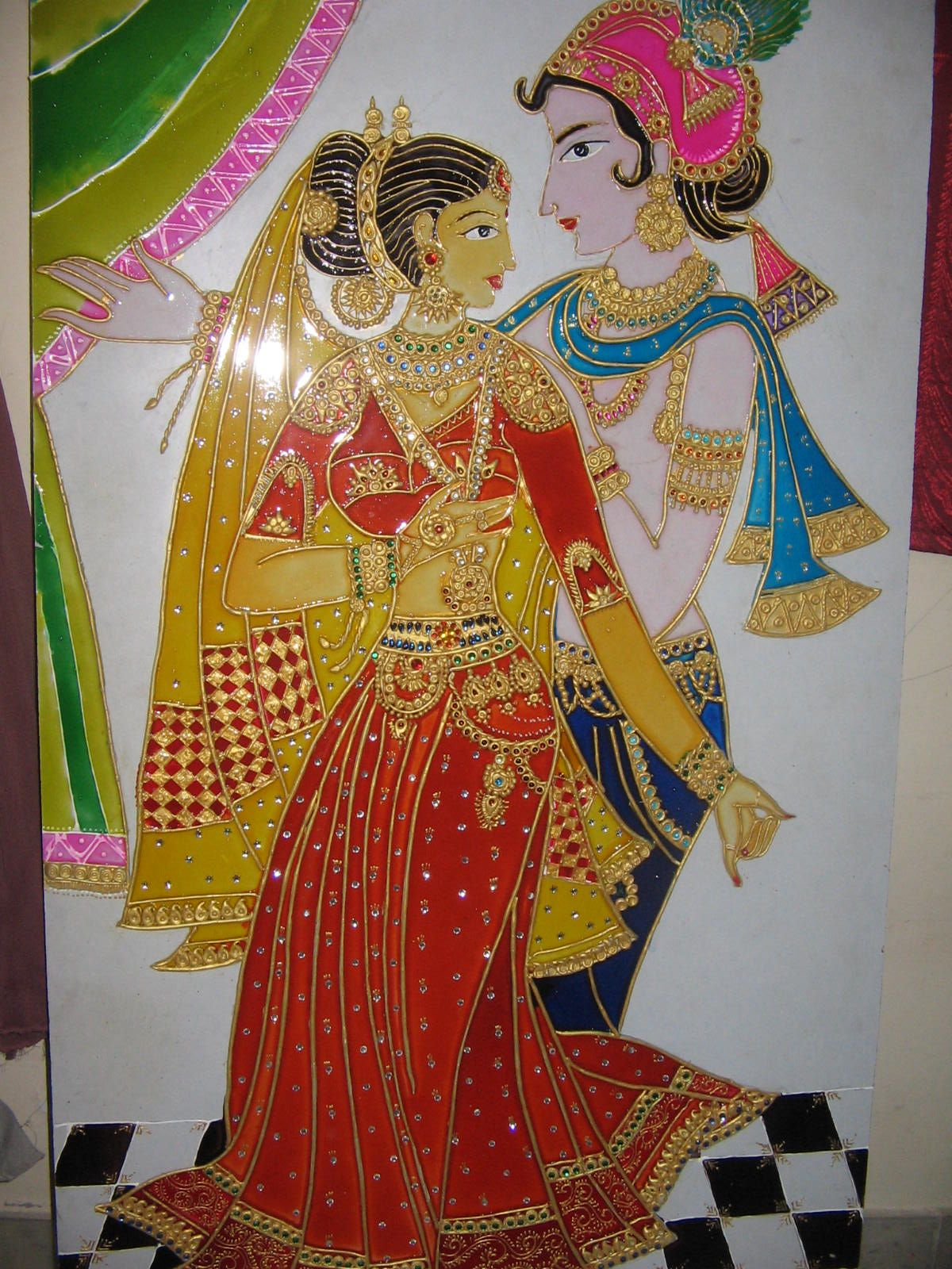 8e02122fe Meenakari Work. Painting by my friend. | For the Home | Painting ...