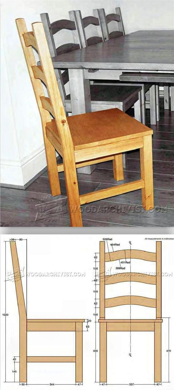 Pine Dining Chair Plans Furniture And Projects Woodarchivist