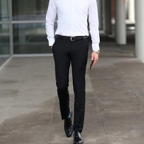 Pantalon De Vestir Entallado Slim Fit Ruedo Y Entalle Gratis 490 00 Pantalones De Vestir Hombre Pantalones De Vestir Pantalones