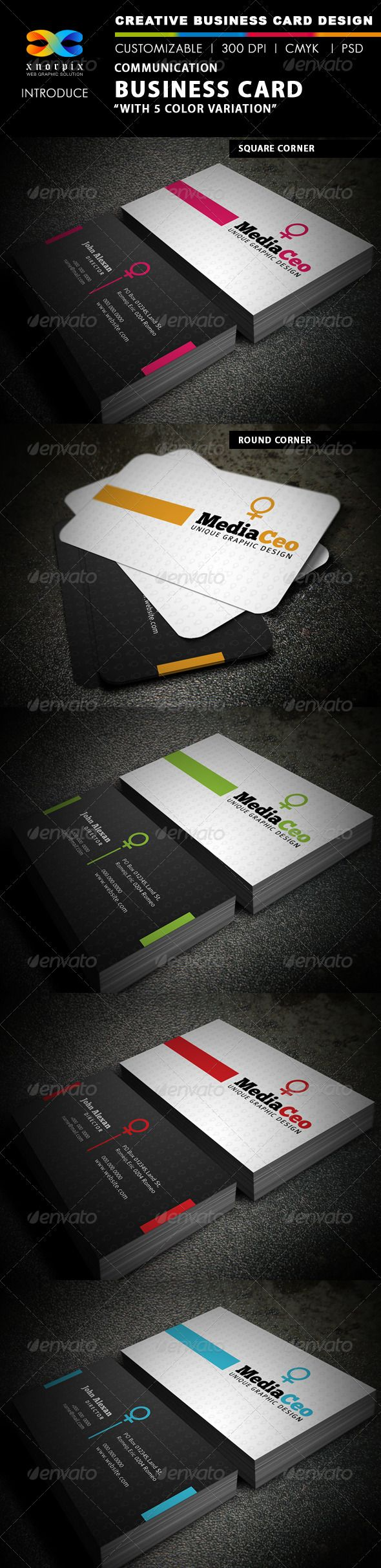 Communication business card business cards adobe photoshop and communication business card reheart Image collections