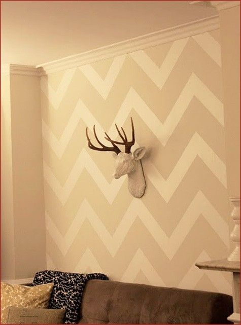 zig zag wall and deer head www.hersplitends.com | baby stuff ...