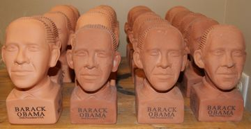 Attack Army Of Obama Chia Pets Ready To Ch Ch Ch Chia Would You Buy This Many Obama Chia Pets Obama Chia Pet Chia Pet Obama