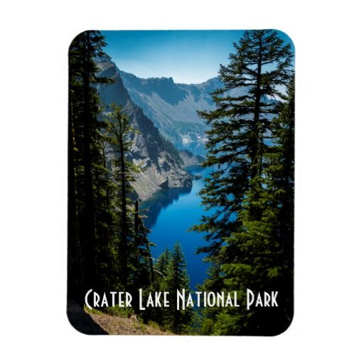 Crater Lake National Park Scenic Mountain Photo Magnet | Zazzle.com #craterlakenationalpark