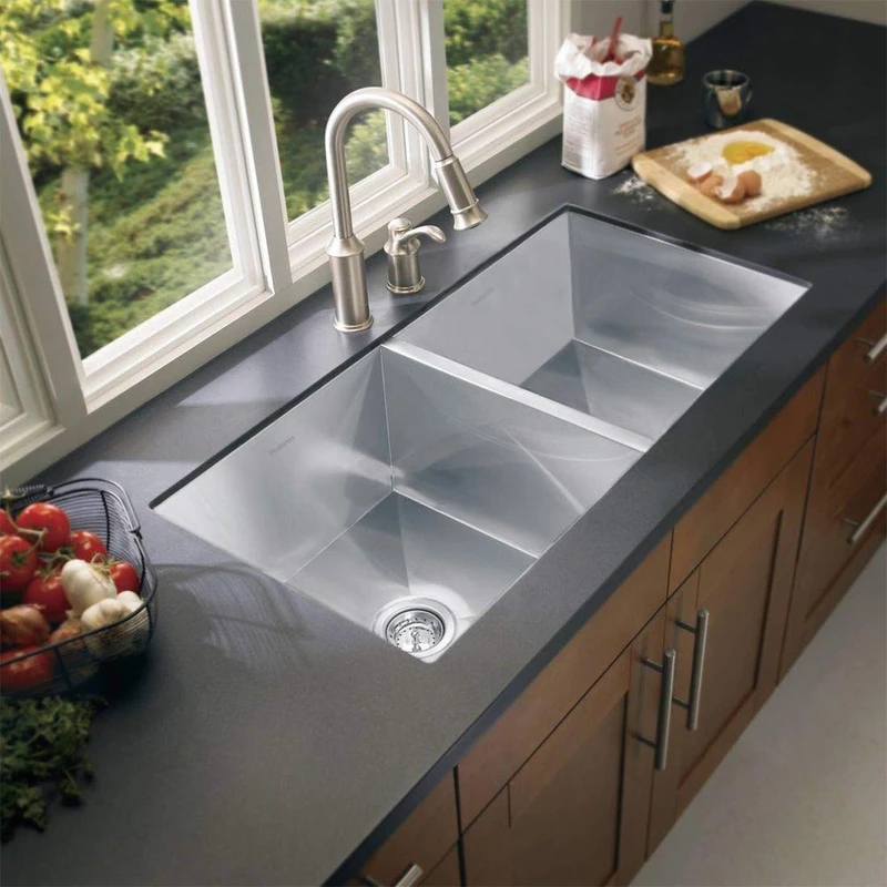 32 Inch Kitchen Sink 32 X19 X10 Double Bowls Us Only Vadania Official Online Store Best Kitchen Sinks Undermount Kitchen Sinks Sinks Kitchen Stainless