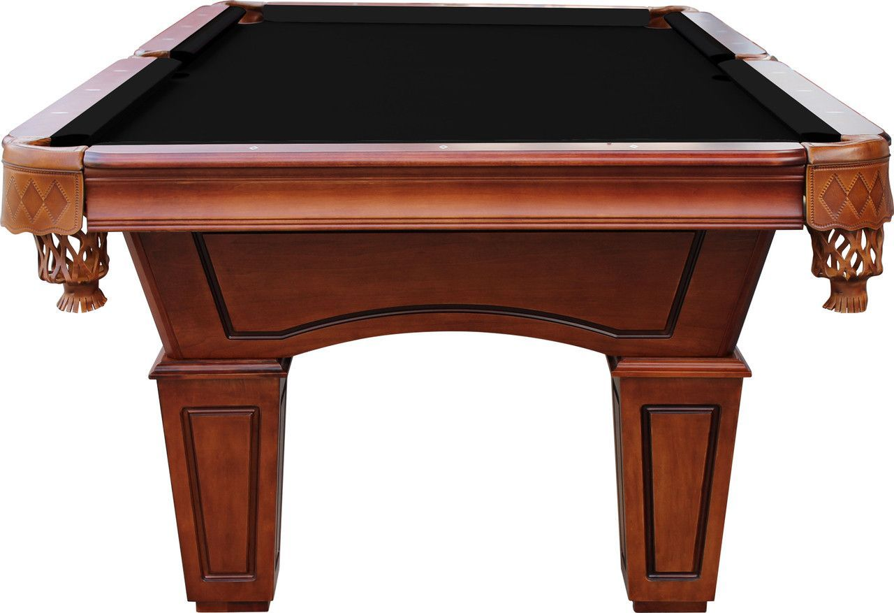 Playcraft St Lawrence Slate Pool Table W Leather Drop Pockets - Genuine slate playfield pool table