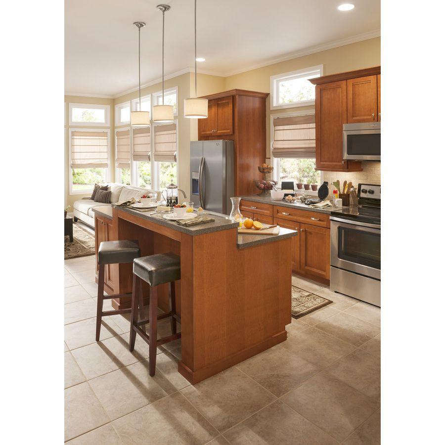 Lowe S Kitchen Cabinet Paint Colors: Shop Style Selections Mesa Beige Glazed Porcelain Indoor/Outdoor Floor Tile (Common: 18-in X 18