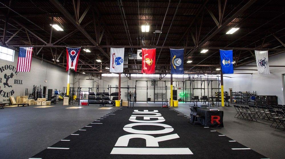 Military Gym Flags Garage Gym Rogue Fitness Gym Interior