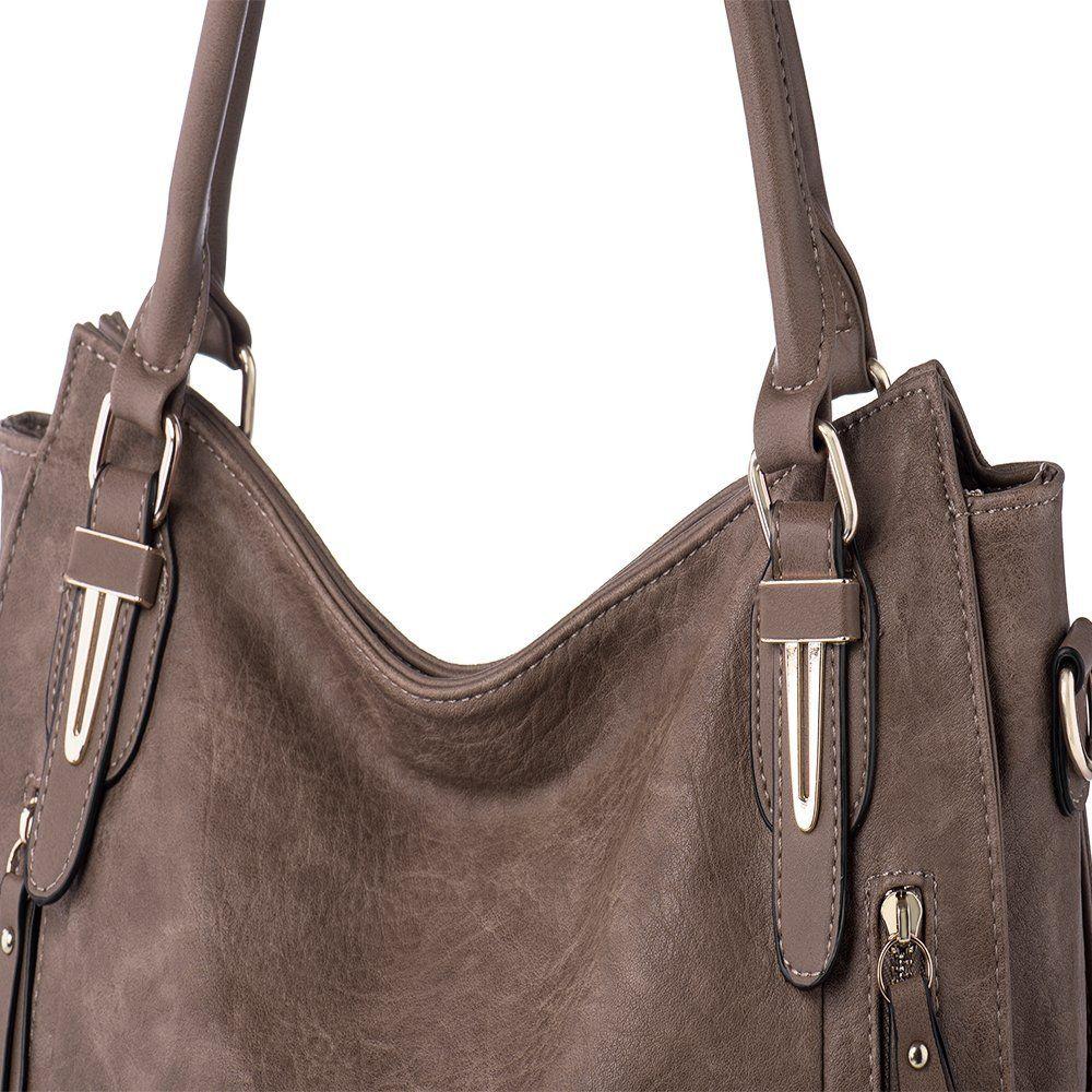 f28f29fd22 Handbags for Women Shoulder Tote Zipper Purse PU Leather Top-handle Satchel  Bags Ladies Medium