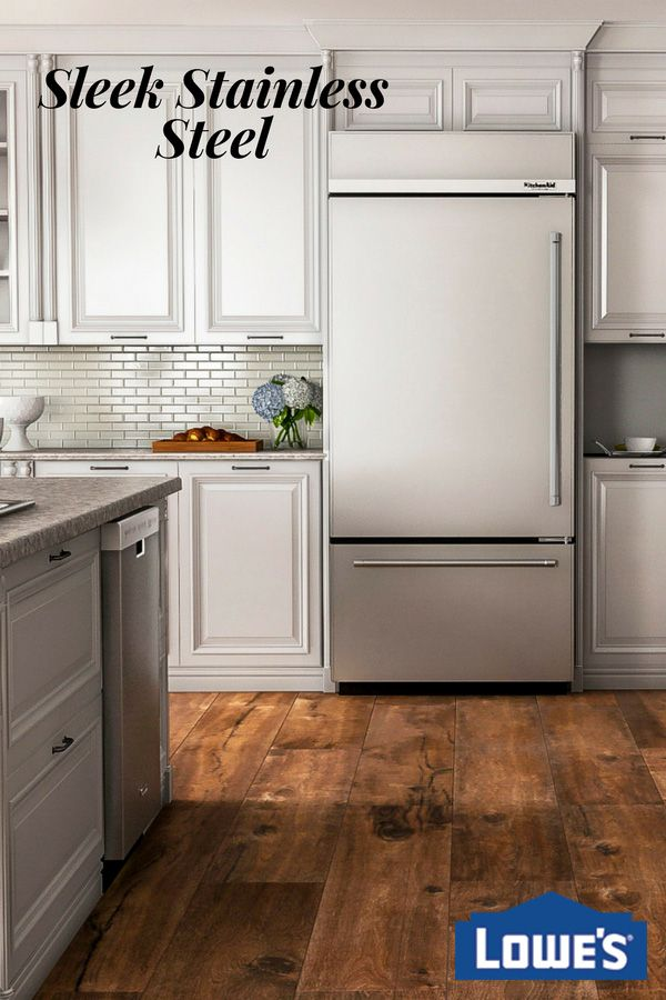 The KitchenAid bottom-freezer refrigerator keeps your foods organized and close at hand. Professionally inspired design in stainless steel gives this appliance a sleek, polished look.
